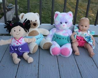 Doll Diaper - Stuffed Animal Diaper - Play Diaper
