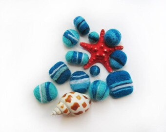 "Beads ""Flat sea of blue pebbles"""