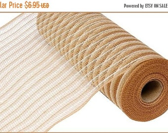 SUPPLY SALE 10 Inch Natural Cream Poly Faux Jute Mesh RY830254
