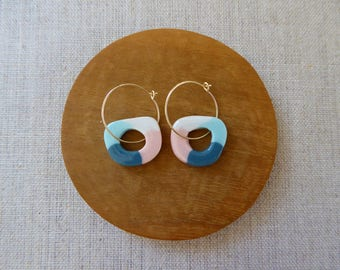 Colour Tube Disc Hoop Earrings Etsy Special