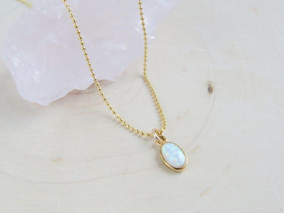 Tiny Opal Necklace
