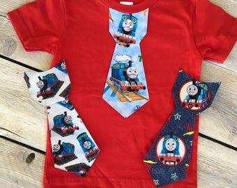 Thomas the Train Inspired Iron On Tie Applique DIY Birthday Infant Toddler