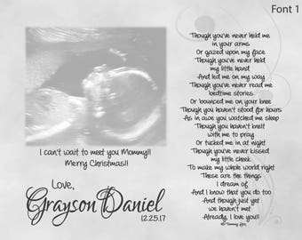 Unborn baby etsy christmas gift from unborn baby for daddymommydaddy and mommy to be negle Choice Image