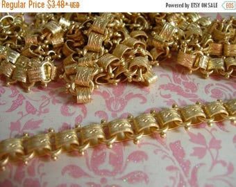 SALE Repurpose Vintage Reproduction Book Chain Matte Gold plated Top Quality Design