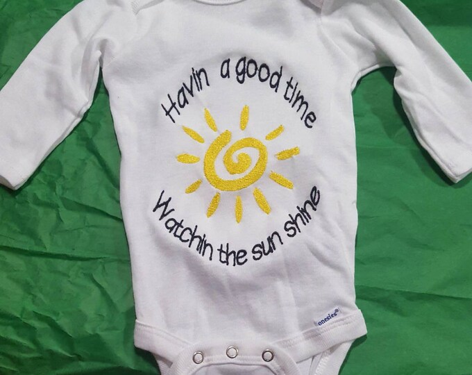 Widespread Panic Custom Baby Embroidered Onesie Unisex Bodysuit Boys or Girls Jam Band Baby Clothing