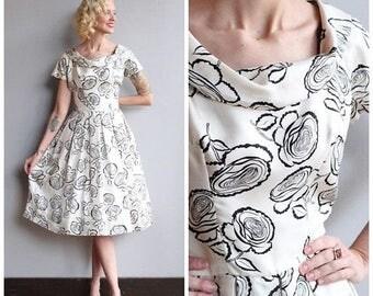 20% Off Sale // 1950s Dress // Suzy Perette Silk Dress // vintage 50s dress
