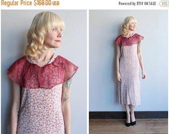 20% Off Sale // 1930s Dress // Soft Floral Rayon Dress // vintage 30s dress