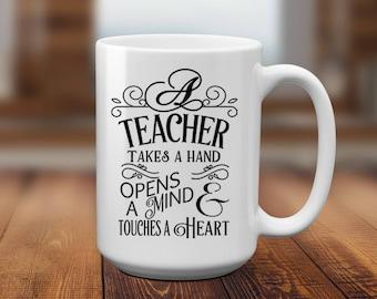 Teacher mug, teacher gift, graduation, new teacher