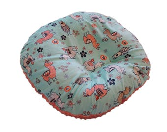 Boppy Lounger cover, newborn lounger cover, minky lounger cover, llama minky boppy lounger cover, slipcover for boppy lounger- ships today