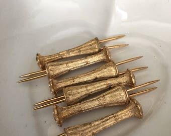 Napier Gold Tone Hostess Picks