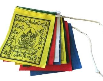 Hand made mii buddha of compassion prayer flags set 10 flags
