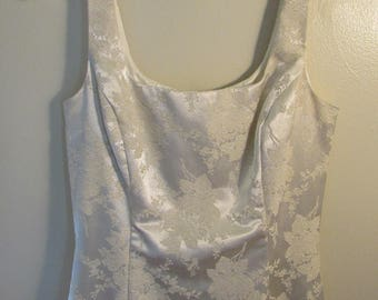 Vintage Scott McClintock Wedding Dress in Ivory Brocade, size 8/modern size 4
