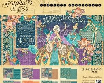 Graphic 45 Midnight Masquerade 8x8 Paper Pad