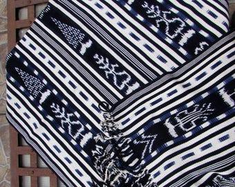 Guatemalan Textile   Organic Cotton and Dyes   Rebozo - Shawl