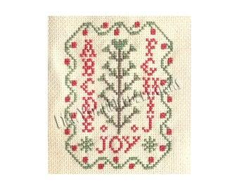 Christmas Cross Stitch Sampler, Christmas Cross Stitch, Christmas Pattern, Small Samplers, Small Christmas Cross Stitch, NewYorkNeedleworks