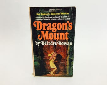Vintage Gothic Romance Book Dragon's Mount by Deirdre Rowan 1973 Paperback