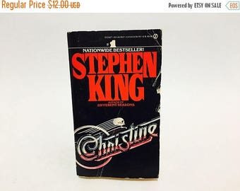SUMMER BLOWOUT Vintage Horror Book Christine by Stephen King 1983 First Edition Paperback