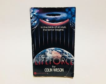 Vintage Sci Fi Horror Book Lifeforce by Colin Wilson 1985 Movie Tie-In Edition Paperback