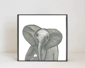zoo safari jungle nursery decor, elephant wall art- nursery decor- kid room decor- nursery art-moroccan nursery-redtilestudio, safari animal