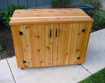 Outdoor Cedar Grilling Cabinet or Patio Furniture