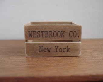 Miniature vintage wooden crate