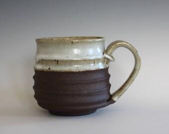 Pottery Mug, 12 oz, unique coffee mug, handmade cup, handthrown mug, stoneware mug, wheel thrown mug, ceramics and pottery