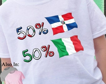FLASH SALE Italian Shirt - Dominican Shirt - 50 Italian 50 - Jamaica nationality Flag Shirt - Dominic Republic Flag