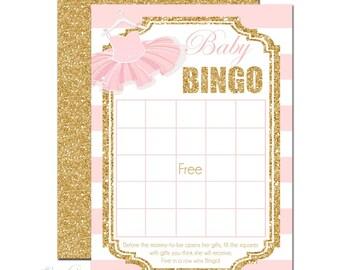 Tutu Baby Shower Bingo, Baby Bingo Shower Game, Tutu Baby Shower, Baby Shower Game, Baby Shower Girl, Baby Bingo Game, Ballerina Baby Shower