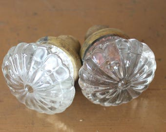antique vintage ribbed glass door knobs antique glass door knobs vintage salvage door knobs glass door