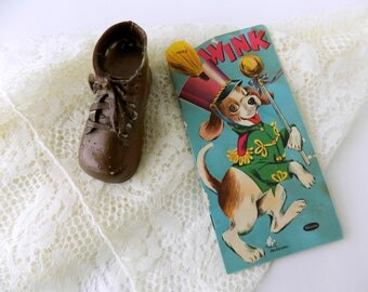 1954 Wink by Whitman Publishing Company. Illustrated by Betty Anderson. Children's Softcover Shape Book. Kid's Storybook. Vintage Nursery.