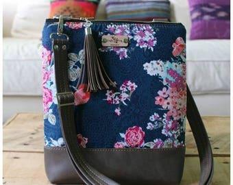 La Natalia bag - crossbody bag - summer bag - travel bag - cross body purse - adjustable strap - Tula bag - Tula fabric