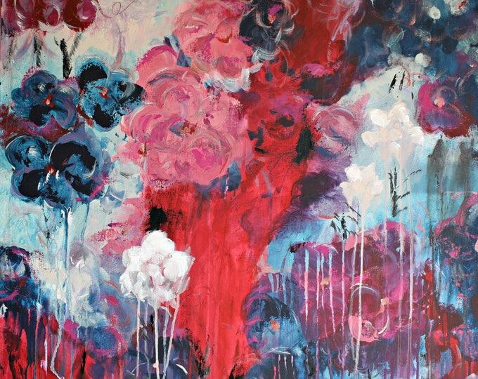 Featured listing image: Red Abundance Original Painting