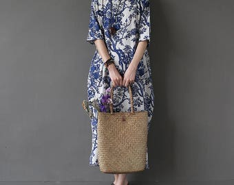 Loose Fitting Maxi Dress, Gown, Women Dress, Maternity Clothing LYQ011