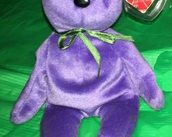 Ty Beanie Bear Teddy Violet