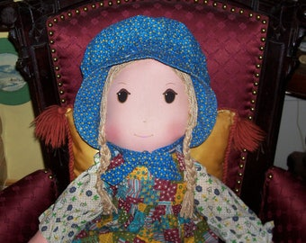 "Vintage Largest Holly Hollie Hobbie Hobby  Rag Doll 33"" Tall"