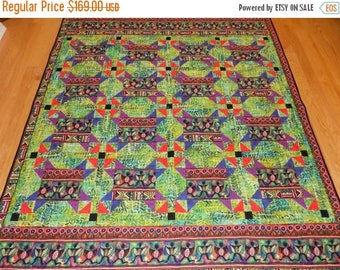 Sale Christmas in July African Lap quilt handmade  70 x 76