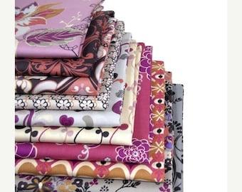 SALE 10% Off - Fat Quarter Bundle - ROCK 'N Romance - Art Gallery Fabrics - Dreammaker palette - 10 fat quarters