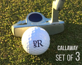 Personalized Golf Balls, Callaway Supersoft, Set of 3 Monogrammed Golf Balls, Father's Day or Great Gift for Golfer