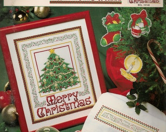 Christmas Cross Stitch Pattern Counted Vintage Cross Stitch Patterns Cross Stitch Leaflet