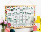 50% SALE Wedding Planner Calendar - Wedding Countdown Calendar - Wedding Planner Book - Wedding Organiser - Bride Planner - Wedding Planner