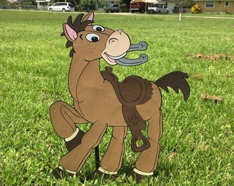 """Toy Story Bullseye Decoration,15.5"""" tall Stand Up, Toy Story Decor, Western Birthday Party Decoration or standee , Cowboy Cowgirl Party prop"""