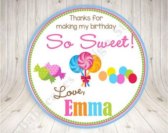 Sweet Shoppe Favor Tag Thank You Tags Candyland favor tag Birthday Party Favor Tag - DIY PARTY PRINTABLES