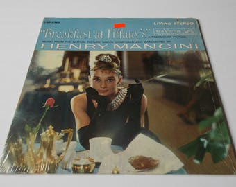 RARE in shrink wrap! Breakfast at Tiffany's - Original Motion Picture Soundtrack - Henry Mancini - LP Vinyl Record Album - 60s