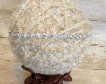 10% SALE Vintage headband, Babynewborn headband, rhinestone headband, adult headband, and photo prop , wedding, rhinestone flower headband