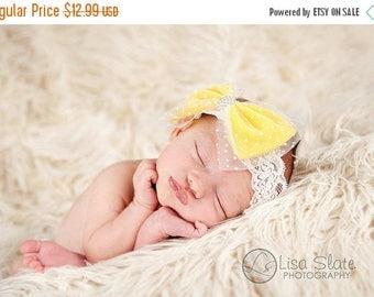 12% off Baby headband, newborn headband, adult headband, child headband and photography prop The single sprinkled- Candy bow headband