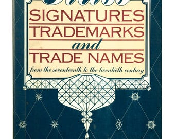 Book of GLASS Signatures, Trademarks & Trade Names. 1st Edition, Ex-Library, Excellent Reference, 1986