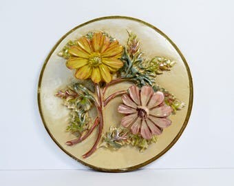 Vintage Floral Chalkware Daisy 1940s