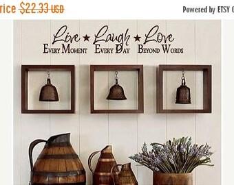 20% off Live Laugh Love -Vinyl Lettering wall  art words graphics Home decor itswritteninvinyl