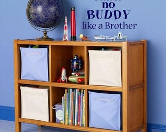 20% OFF There's no buddy like a brother-Vinyl Lettering wall words  quotes graphics Home decor itswritteninvinyl
