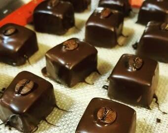 Espresso Caramels dipped in Dark Chocolate (10pc)